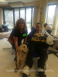 Therapy dog Cooper at Morningside