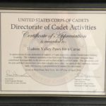 APPRECIATION FROM WEST POINT CADETS