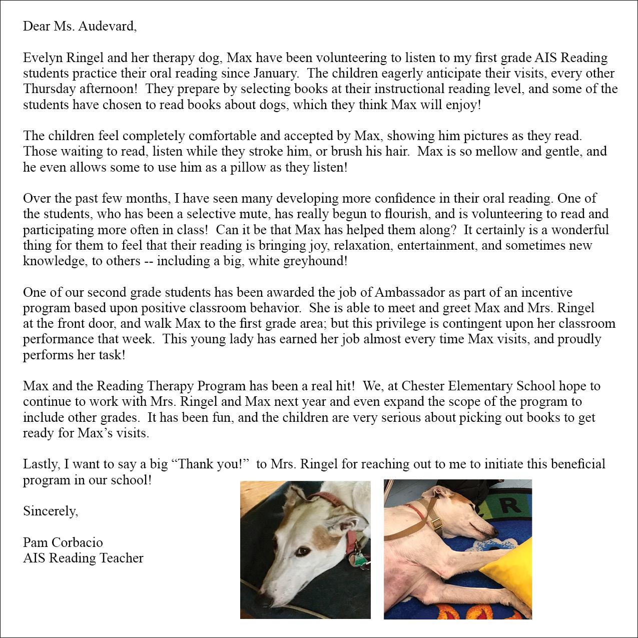Testimonials Hudson Valley Paws For A Cause Pet Therapy